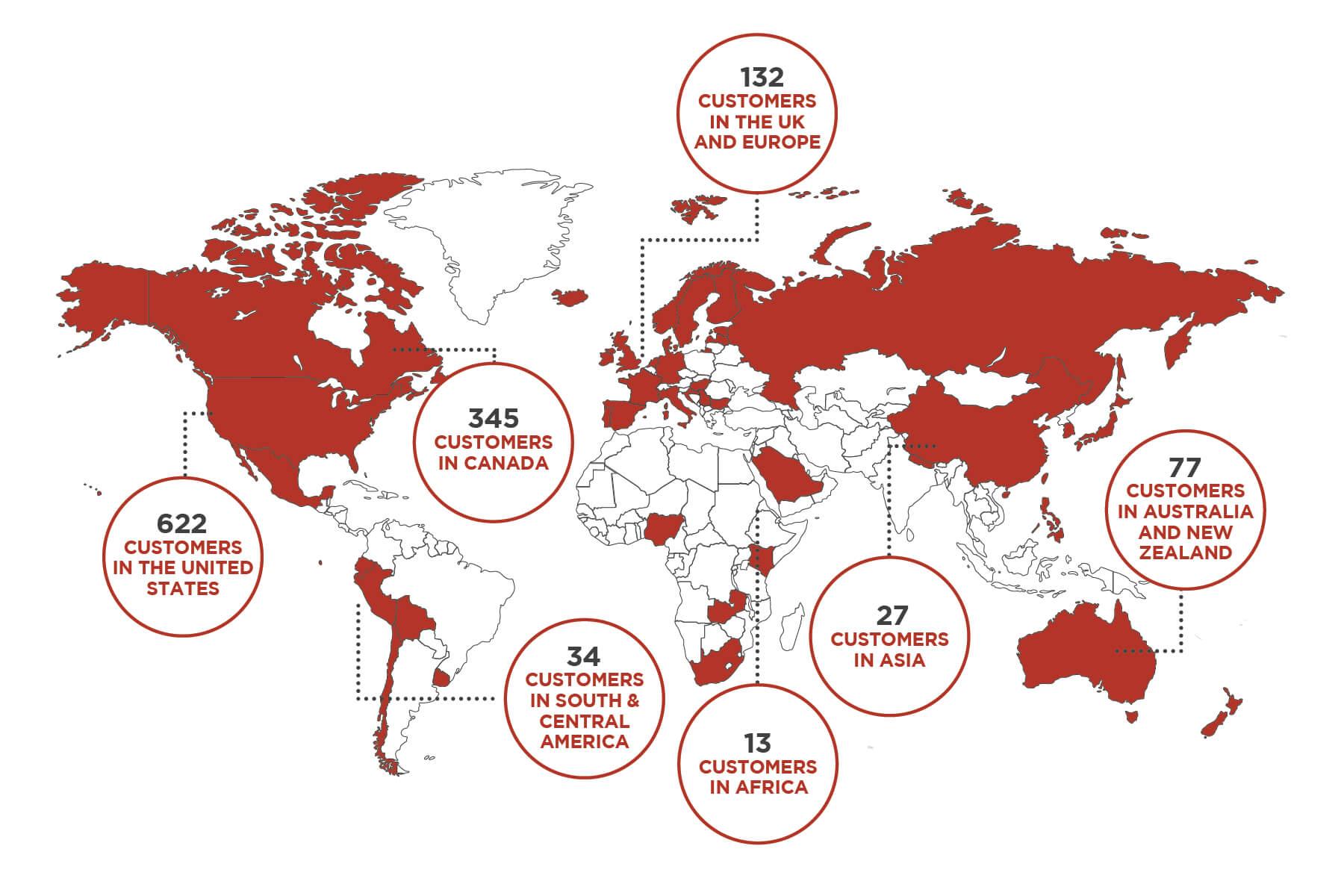 Cask Customer Global Map