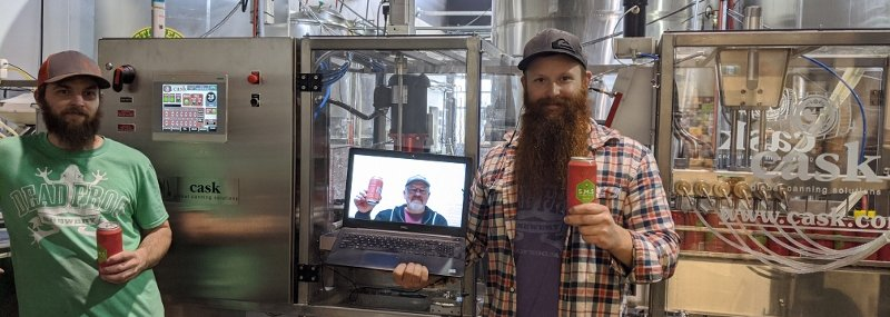 Cask Canning Virtual Installation with Dead Frog Brewery Canada