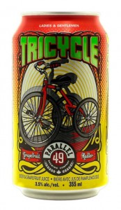 Parallel 49 Brewery's first canned beer - the Tricycle Grapefruit Radler