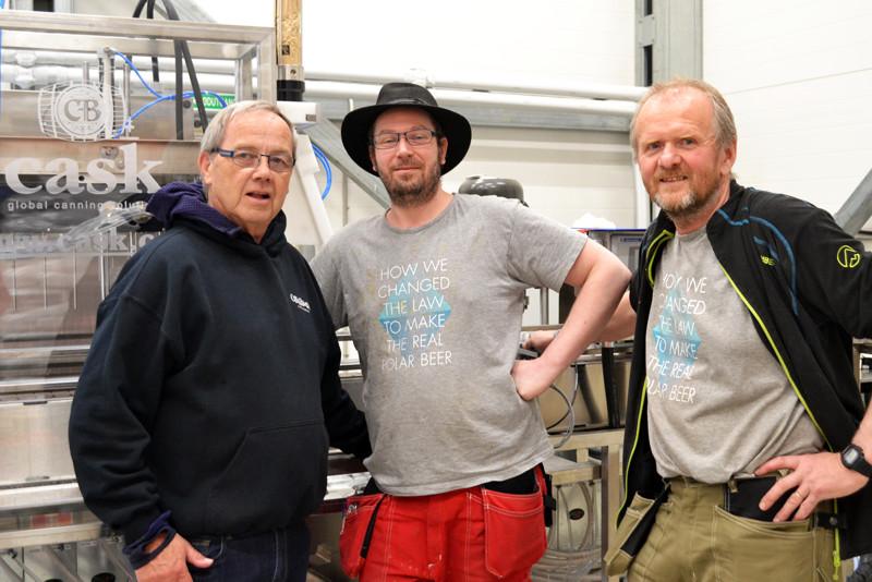 Svalbard team and Cask founder: L to R Peter Love, brewer Andreas Hegerman Robert Johansen